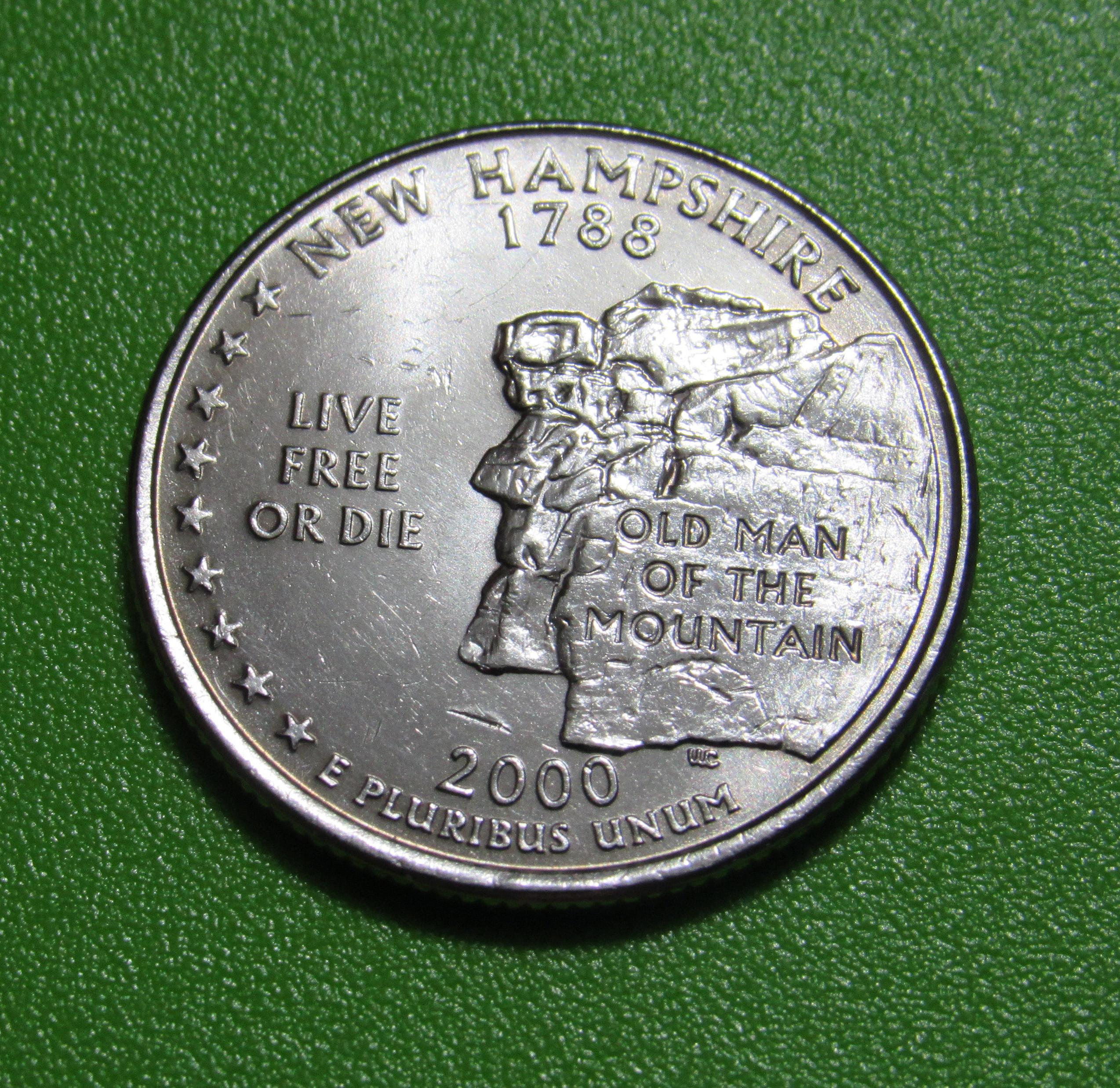 Old Man of the Mountain coin 2000-D US Quarter New Hampshire UNC-60 25 cents