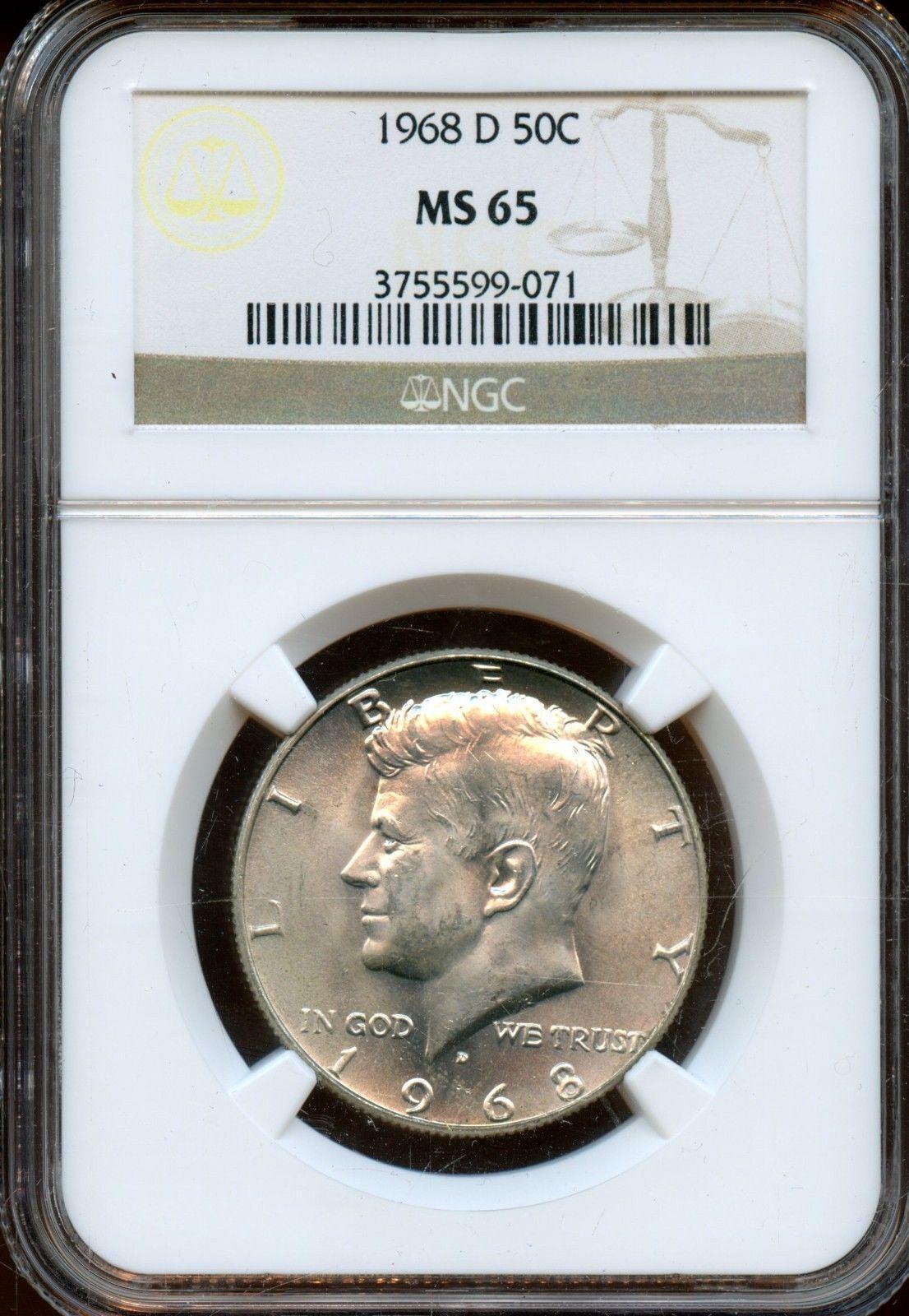 1968-D Kennedy Half Dollar PCGS MS66
