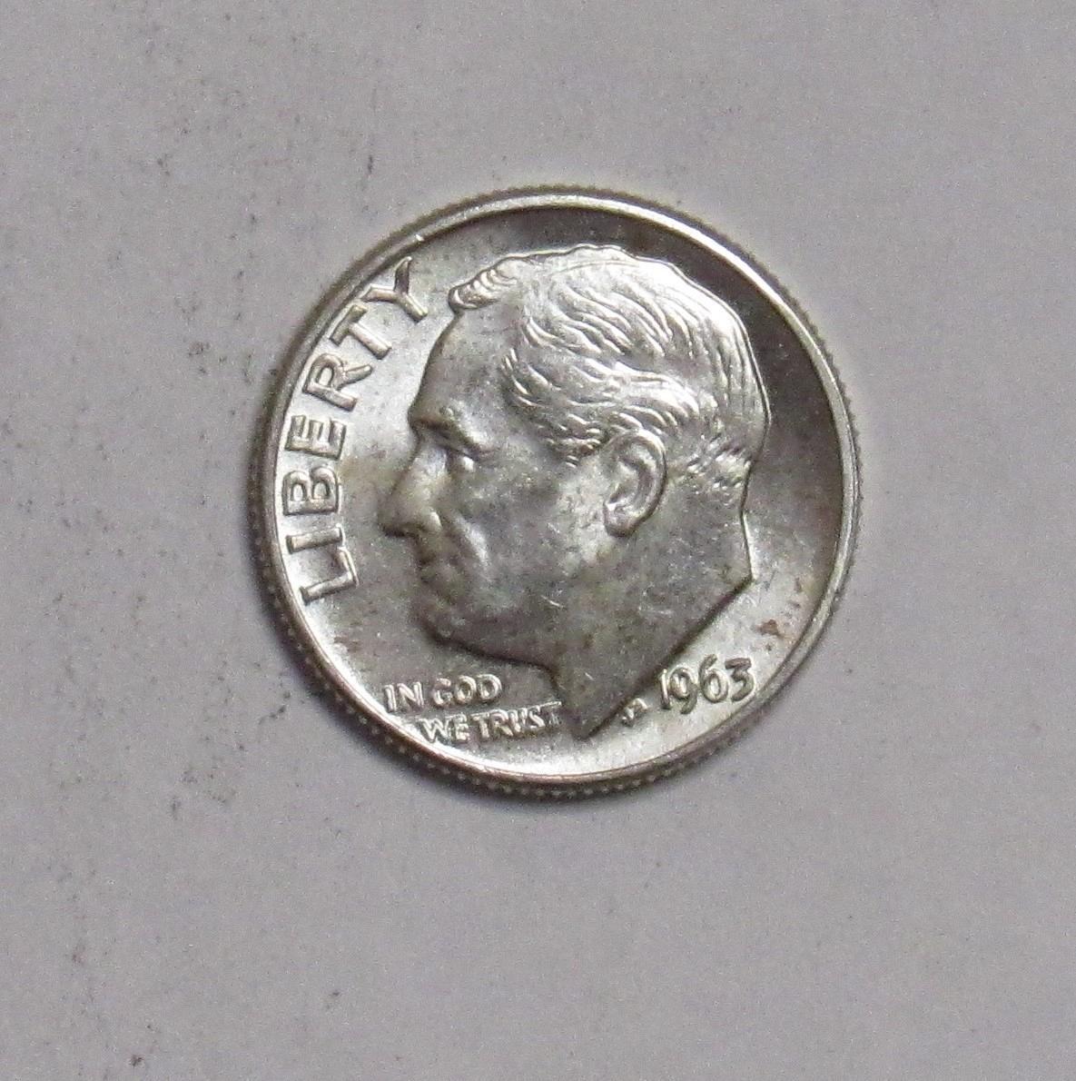 1963  Roosevelt Dime BU uncirculated gem!