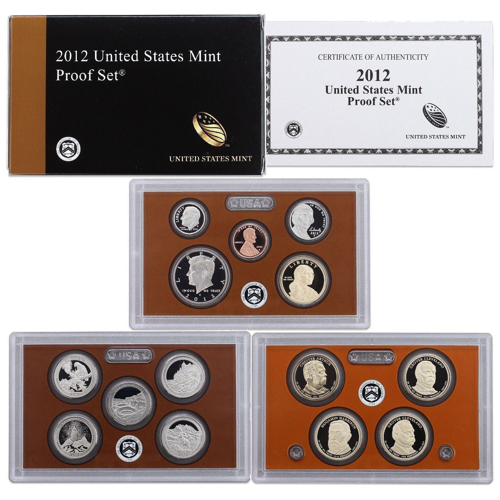 2012 S 14 Pc United States Clad Proof Set Wbox Coa For Sale