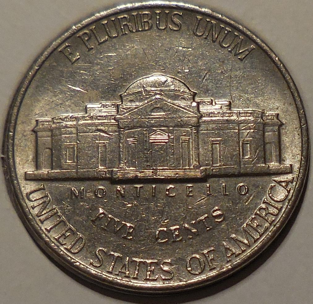 1993-P Jefferson Nickel Spike Head Die Crack Error - for ...