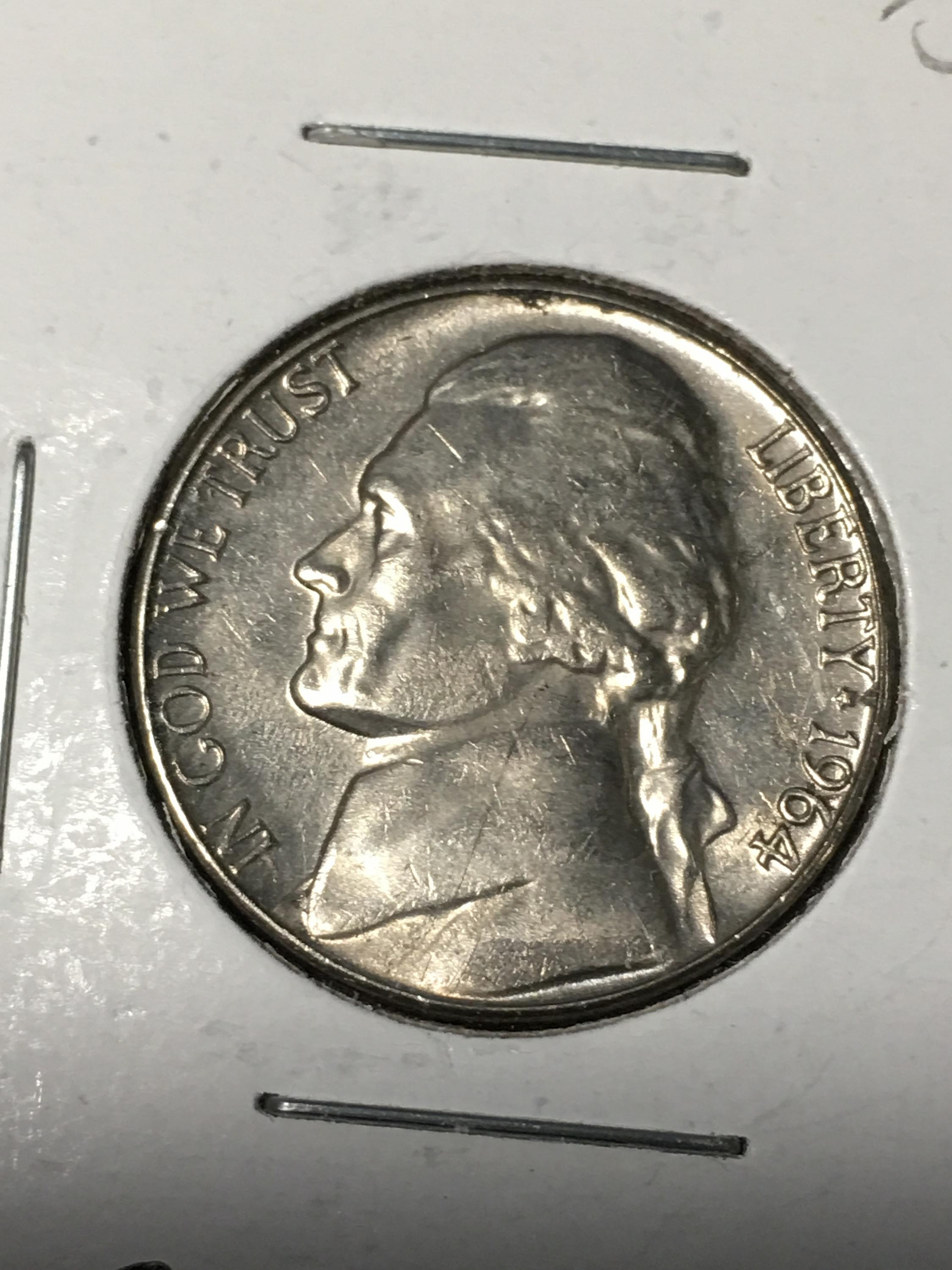 1964 D Jefferson Nickel Item 0219035