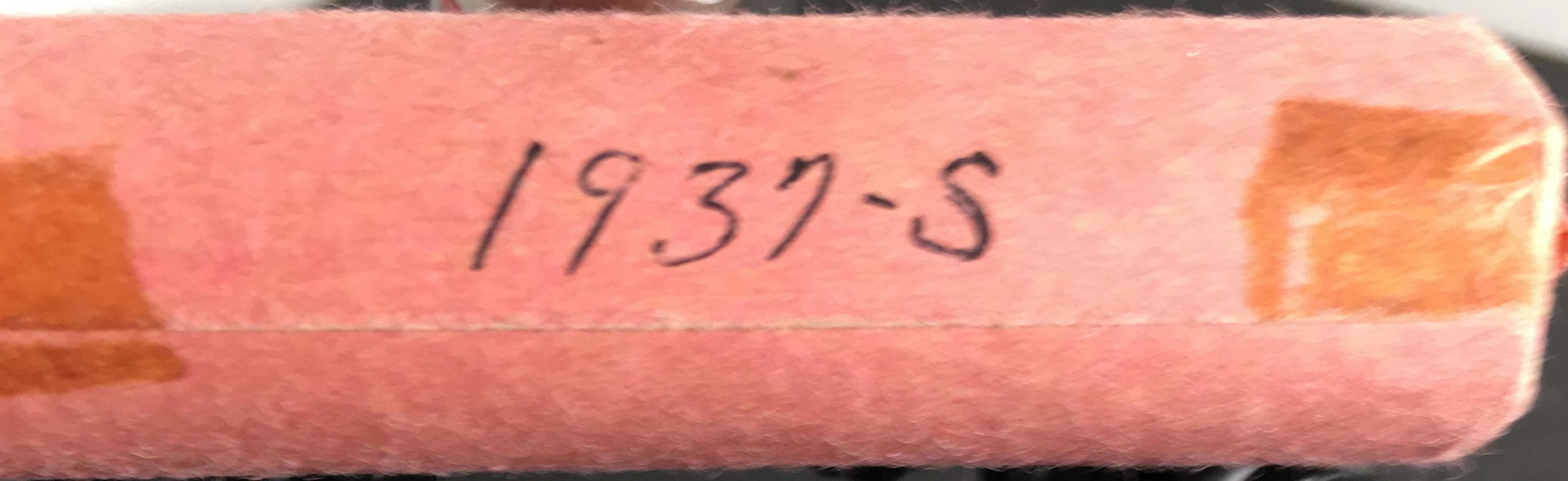 1937-S ROLLS OF PENNIES - POSTED 3/9/2019