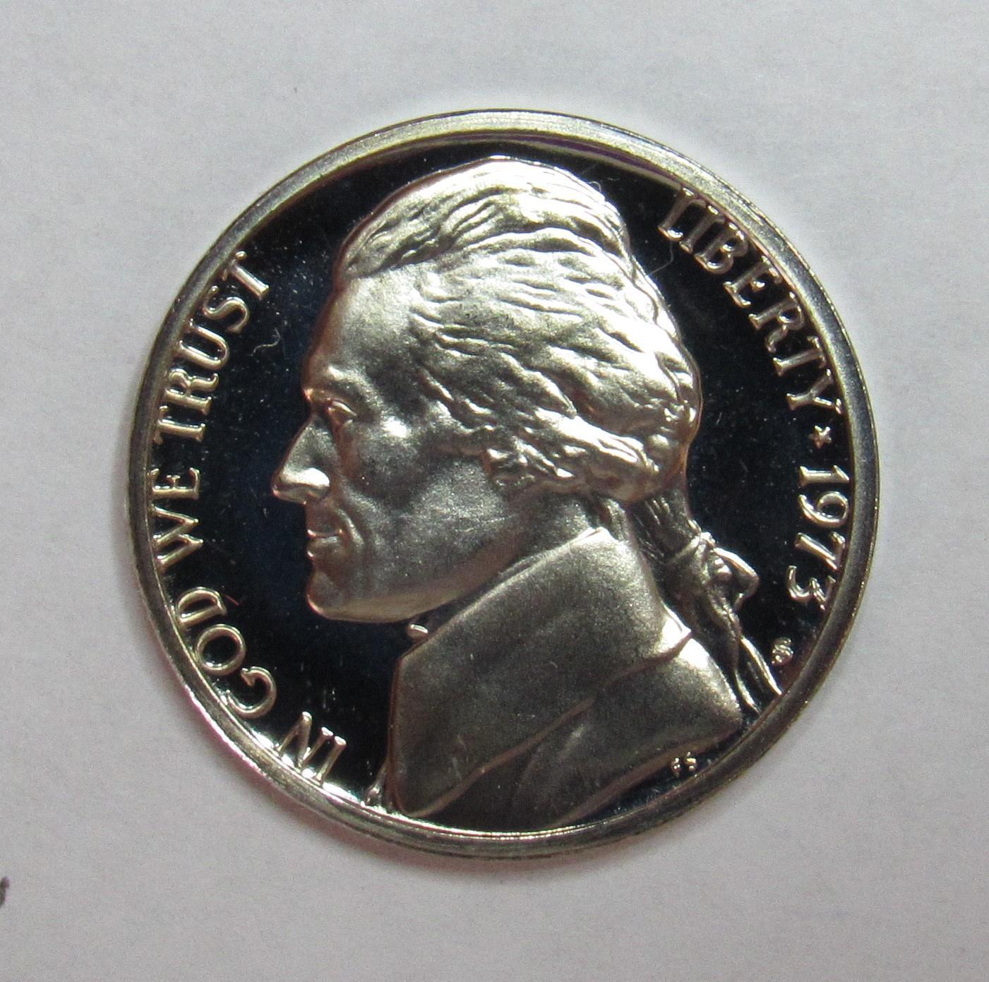 1973 S Jefferson Proof Nickel