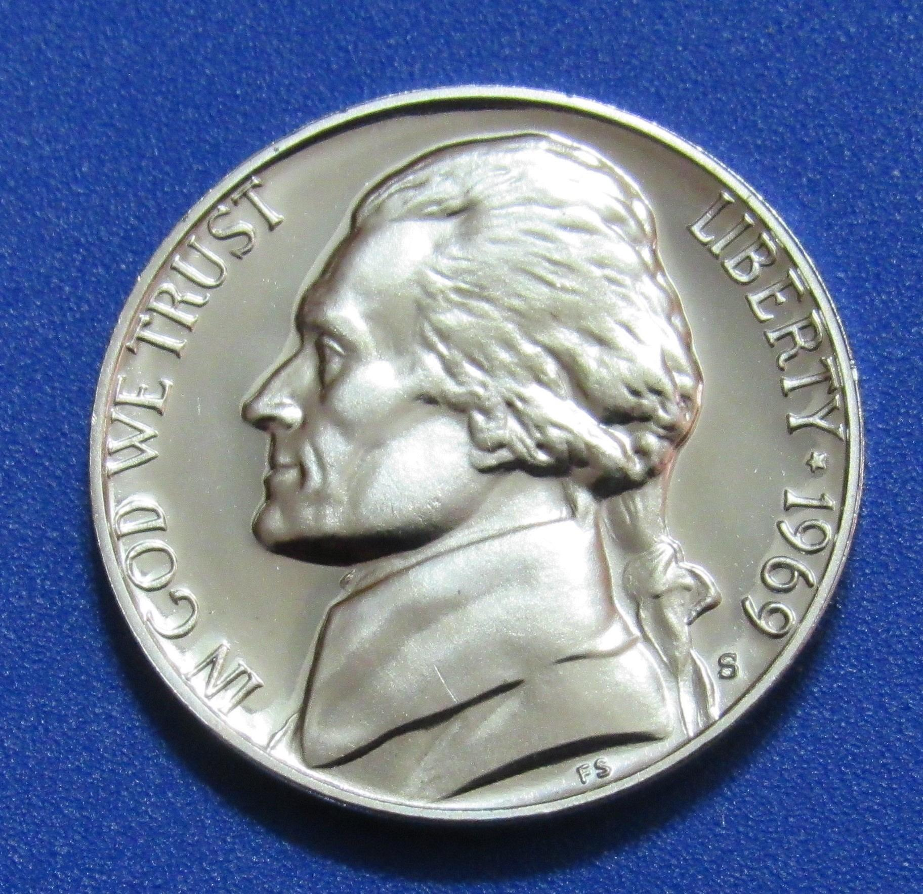 1969-S 5 Cents - Jefferson NIckel