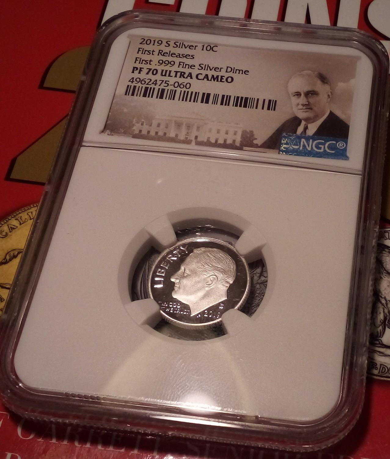 1963 Proof Roosevelt Dime certified PF 67 Ultra Cameo by NGC!