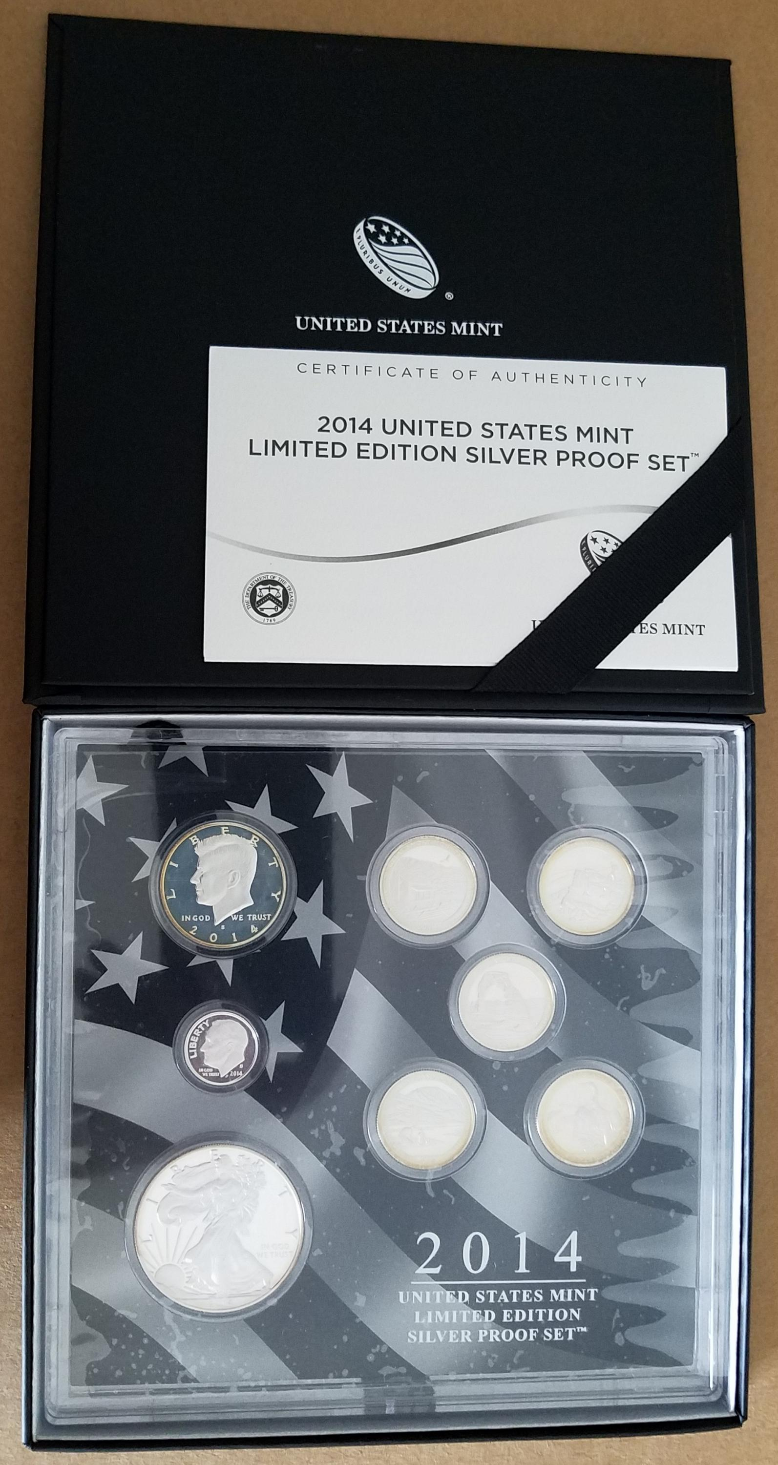2014 S Limited Edition Silver Proof Set Proof