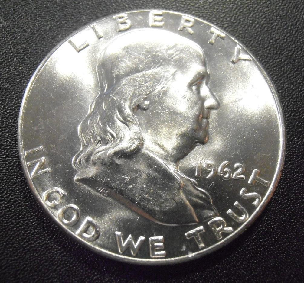 BU 1962 Franklin silver half dollar